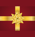 gold bow ribbon vector image