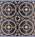golden chains and ribbons seamless pattern on vector image vector image