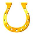 golden horseshoe icon cartoon style vector image vector image