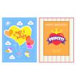 happy birthday bright cards vector image vector image