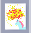 happy bithday colorful card vector image