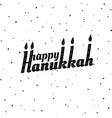 happy hanukkah font composition vector image vector image