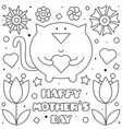 happy mothers day coloring page vector image vector image