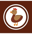 hen animal farm icon vector image