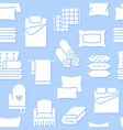 home textiles seamless pattern with flat glyph vector image vector image