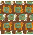 India elephant seamless pattern vector image vector image