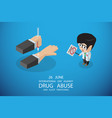 international day against drug concept vector image