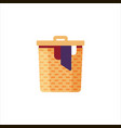 laundry basket with dirty clothes isolated on vector image vector image