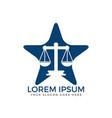 law firm logo design vector image vector image