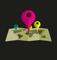 location pointer on map simple vector image vector image