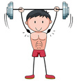 Man lifting weight alone vector image