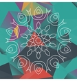 Mandala like design over triangles background vector image vector image