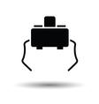 Micro button icon vector image