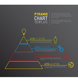 Pyramid chart diagram template vector image vector image