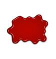 red cherry splash confiture berry sweet jam spot vector image