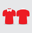 red polo t shirt vector image vector image
