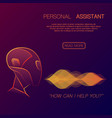 robot personal assistant background vector image vector image