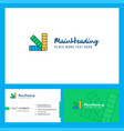 scale logo design with tagline front and back vector image