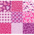 Seamless heart fabric pattern set vector | Price: 1 Credit (USD $1)