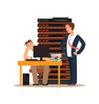 server administrator workplace vector image vector image