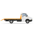 small wrecker truck van lorry for transportation vector image