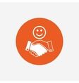 Smile handshake sign icon Successful business vector image vector image