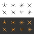 Sparkle icons vector image