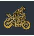 Typography lettering motorcyclist vector image