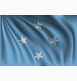 waving federated states micronesia vector image vector image