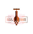 wine bottle watercolor logo corkscrew with wine vector image vector image