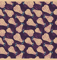 yellow pears seamless pattern hand drawn vector image vector image