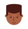 young man black head character vector image