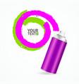 Color Spray Can Write Speech Bubble vector image