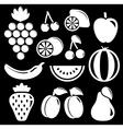 set white fruit silhouette vector image