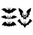 set of halloween bat icons monster bats vector image