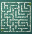 Green maze vector image