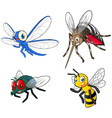 Insect Cartoon Character Pack Two vector image