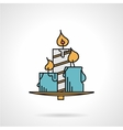 Candles flat color icon vector image