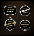 a set of emblems logos on the theme of brewing on vector image