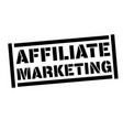 affiliate marketing stamp on white vector image vector image