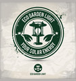 alternative eco garden light stamp vector image