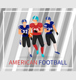 american football players gridiron game poster vector image