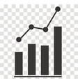 analytics icon on transparent analytics sign vector image