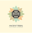 ancient sun tribal vector image vector image