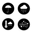 autumn weather glyph icons set vector image