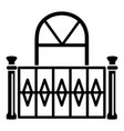 beautiful balcony icon simple style vector image vector image