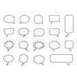 blank empty speech bubbles set in vector image vector image