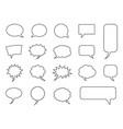 blank empty speech bubbles set vector image