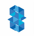 bm bw gm blue diamond and logo vector image vector image