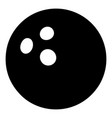 bowling ball icon simple black style vector image vector image